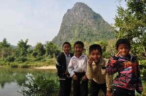 The Kids Followed Me through the Village