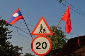 Laotian Traffic Sign