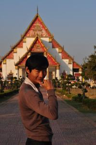 In Front of the Temple Where I Got the Fried Snack