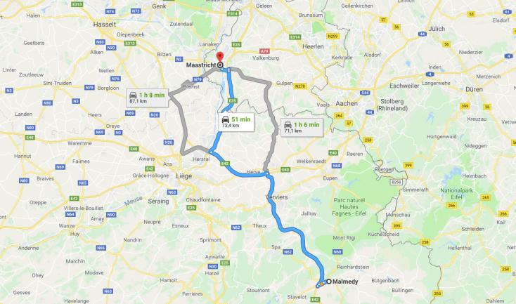 Malmedy to Maastricht